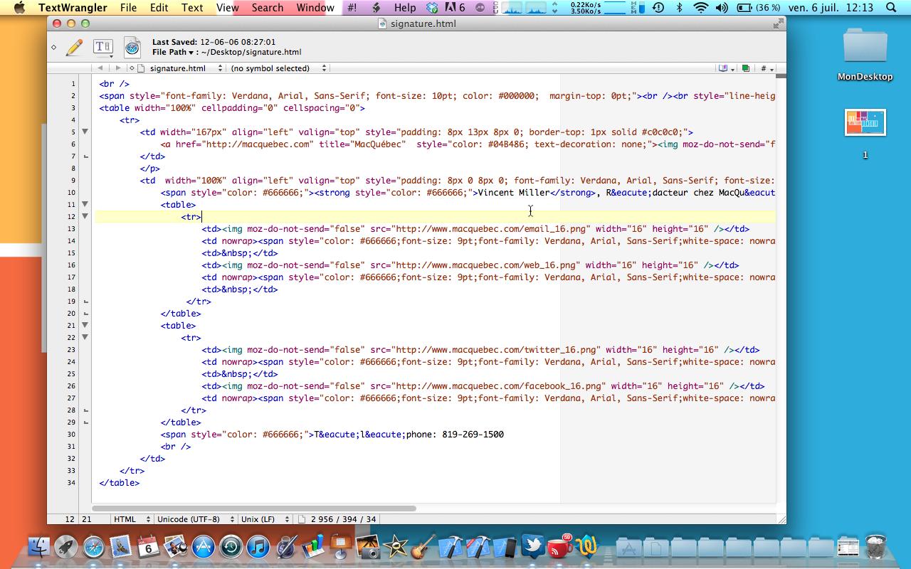 comment prendre un html