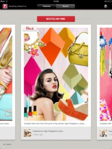 Bazaart - application ipad pour faire des collages avec Pinterest