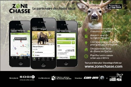 Zone-Chasse Application iPhone