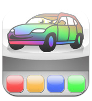 Cars Painting application ipad enfant