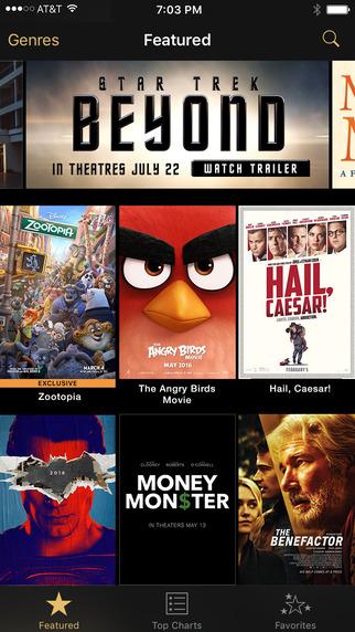 iTunes Movie Trailers disponible au Canada sur iOS/Apple TV