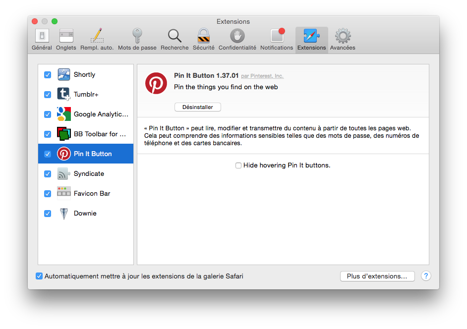 safari les extensions qui permettent plus d 39 options