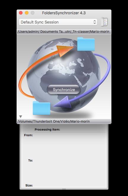 Folder Synchronizer : Synchronisation