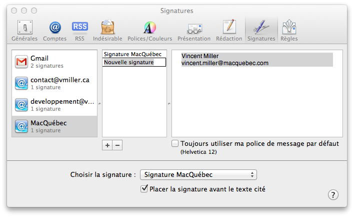 how to add html signature to mac mail
