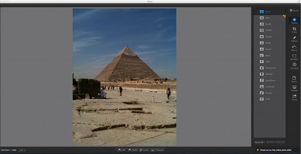 Fotor un diteur photos intuitif simple for Test ecran retouche photo