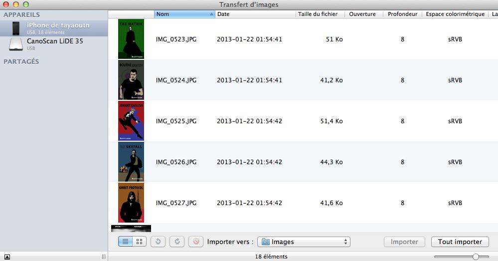 transfert d image mac telecharger