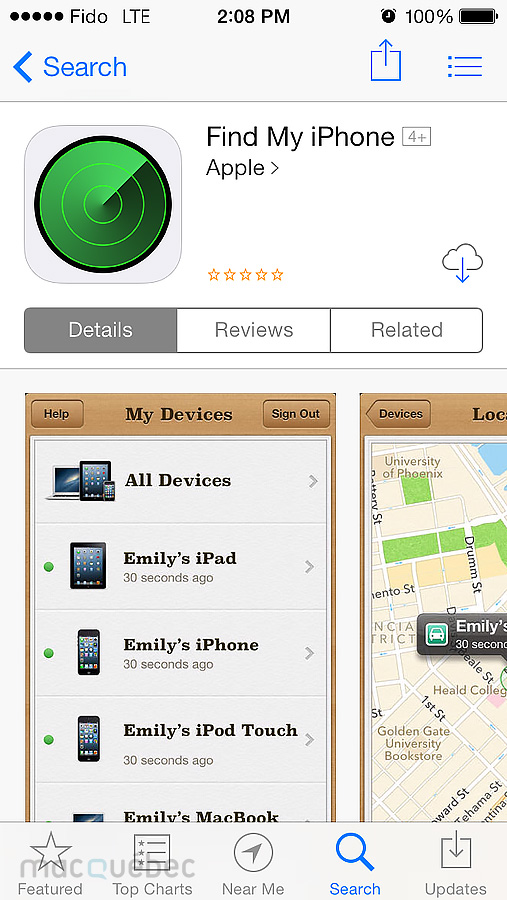 Find my iPhone on App Store Final
