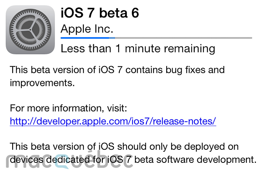 iOS 7 beta 6 Final:Watermarked