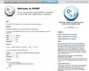 mamp_startscreen