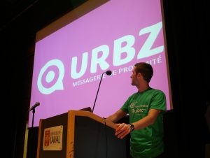 Terence Tyr, co-fondateur d'Urbz, lors du Startup Weekend Quebec 2014