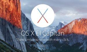 OS X EL Capitain