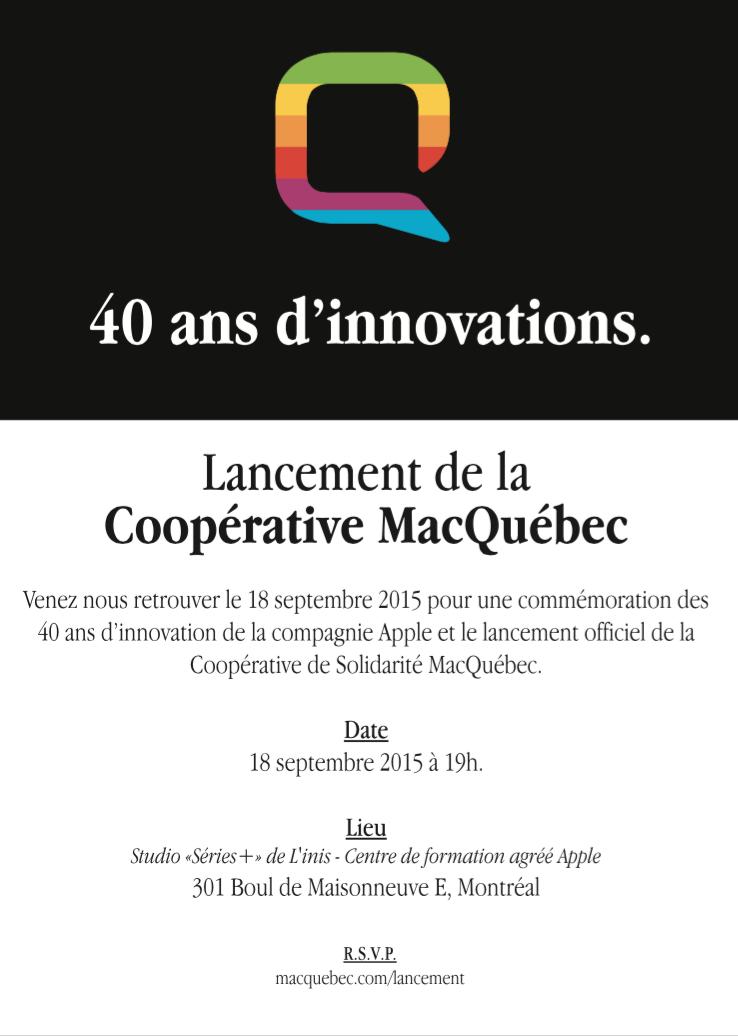 Lancement cooperative MacQuebec