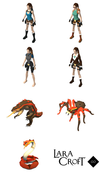 Sticker pack Lara Croft