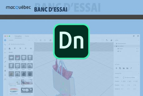 En-tête d'article sur Adobe Dimension