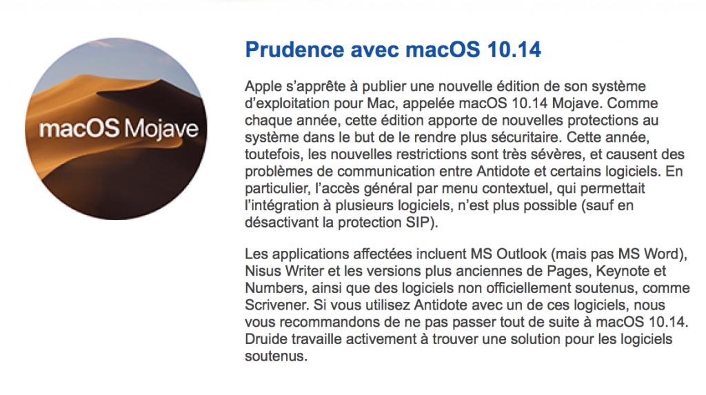 Antidote MacOS 10.14