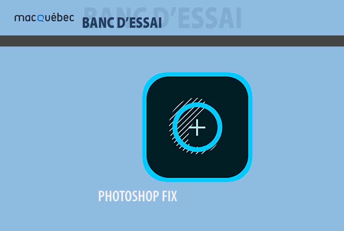 Cette illustration montre le logo de l'application Photoshop Fix associé à l'article du logiciel.