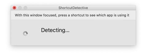 Image montrant la fenêtre de détection de ShortcutDetective