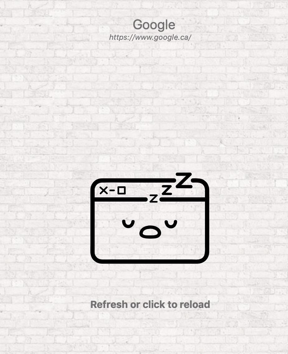 Tab Suspender : image montrant un onglet dont l'activité est suspendue