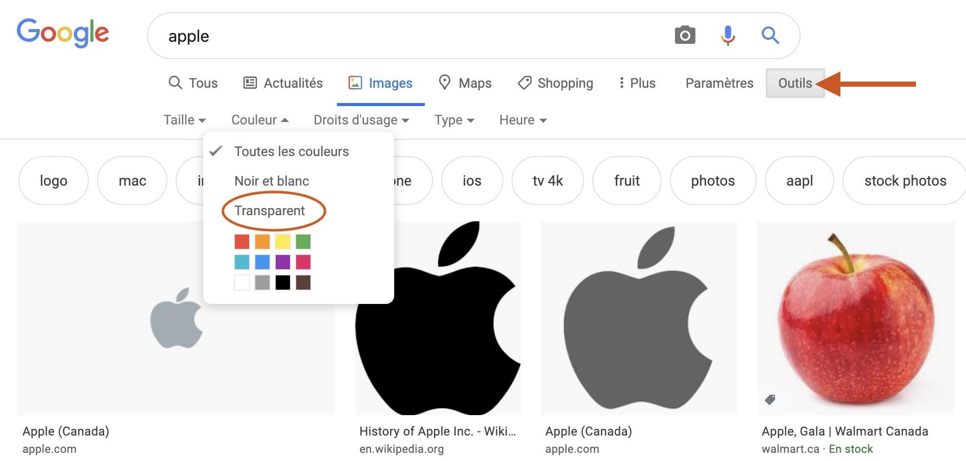 Image montrant comment obtenir une image transparente sur le web